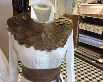 Bronze Pleather statement collar