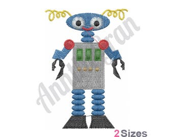 Robot - Machine Embroidery Design