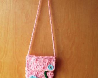 Item#APR1101 Girls Hand Crocheted Purse