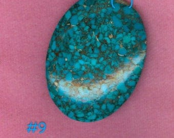 40x30 Turquoise Cabochons ~ Stabilized ~ Matrix (OT009)