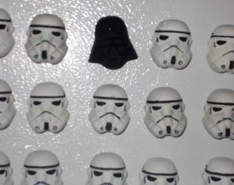 Darth Vader and Stormtroopers Refrigerator Magnet Set