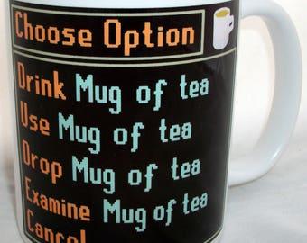 Computer Gaming Choose Option Design Tea Mug