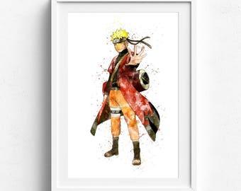 Naruto poster, anime poster, naruto print, naruto anime, manga poster, video game poster, naruto uzumaki art, naruto manga, kids wall art
