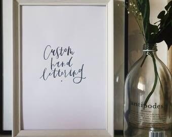 Custom Brush Lettered Print