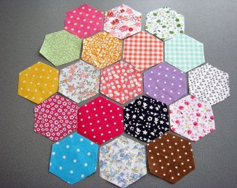 200pcs 50x50mm Hexagon Fabric Appliques