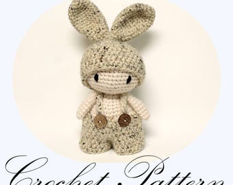 Amigurumi Bunny, Chunky Bunny Pattern, Amigurumi Pattern, Stuffed Toy, Crochet Tutorial (English Only)
