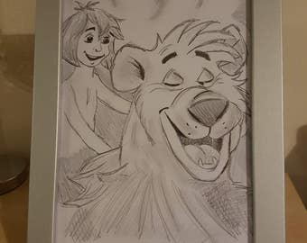 Jungle book sketch in a lovely frame