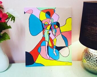 Original Painting- Opressed, Never Invisible  .. Feminist Art