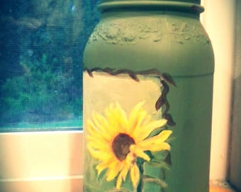 sunflower storage jar