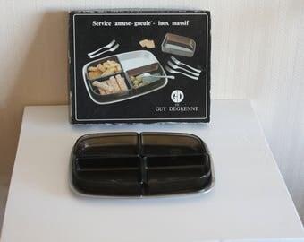 appetizer tray service Guy Degrenne - Inox - Vintage