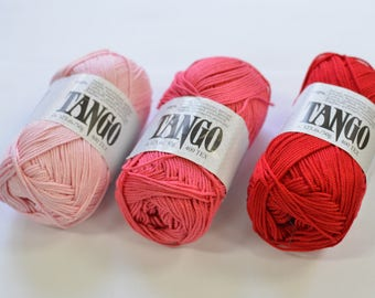 100% Mercerized Cotton yarn TANGO 50gr 125m Cotton Yarn knitting Crochet thread Сhoice of color Many Colors