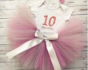 Tutu Skirt, Baby Girl Tutu, Birthday Tutu, Purple Tutu Skirt, Tutu Outfit, Tutu Set, Tutu months, ten months,