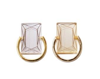 Acryl diamond Ring