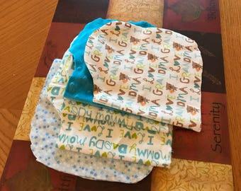 Contouring burping cloths