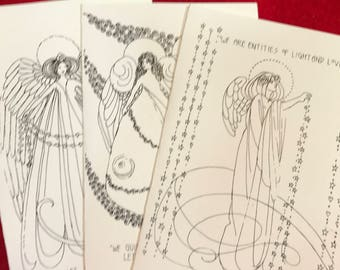 Color the Angels cards, set of three, packet #3