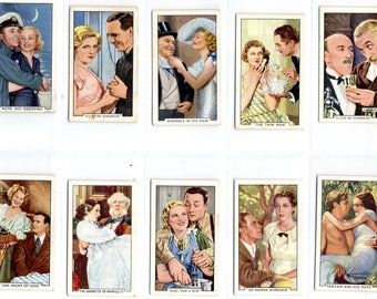"Full set of 48 ""Shots from Famous Films"" Cigarette Cards from 1935"