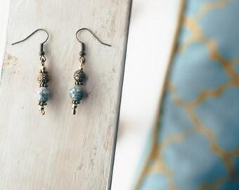 Tibetan Stone Earrings