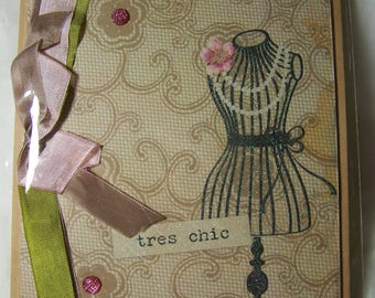 Handmade greeting card. Tres Chic  card