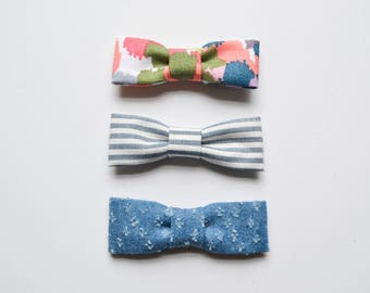 Chambray Bow Set
