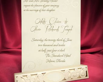 Scroll Wedding Invitation Card, Ivory Scroll Invitations in Box, Beautiful Roll Invites, Personalized Printing, Free Shipping  (Code 7705)