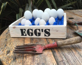 Recycled pallet wood egg box