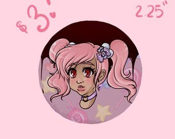 Candy Girl Button