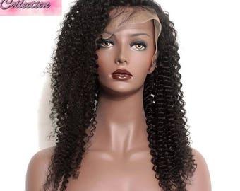 kinky curky human hair wig