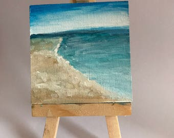 Mini Canvas Painting   Ocean Breeze
