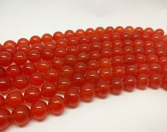 8mm Orange Carnelian Beads 10mm Carnelian Beads 12 mm Carnelian Beads  Round Carnelian Beads Jewelry Supply Mala Beads DIY Projects Beads