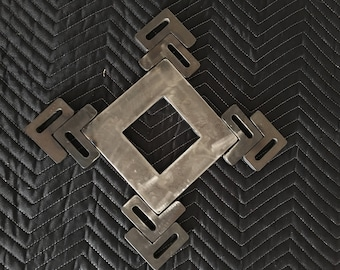 Recycled steel industrial wall art