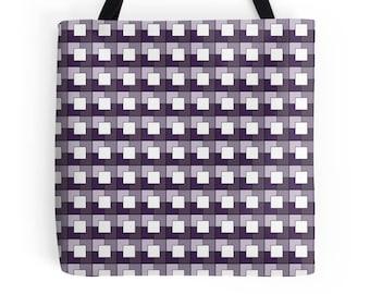 Purple tote Bag, Geometric tote bag, market shopper, tote bag, geometric print, shopping bag, tote shopper, market bag, Geometric Bag