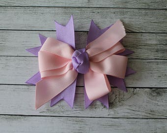 Purple/Pink Medium Bow