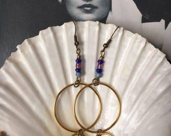 Biba inspired retro style dangle earrings.