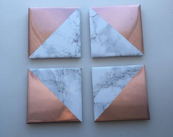 Marble Coasters with rose gold