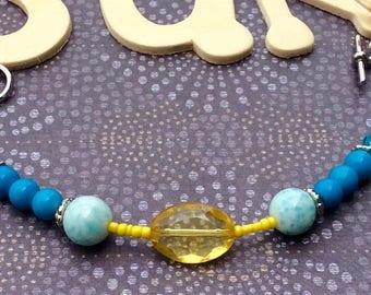 Summer Sky Coastal Beaded Bracelet
