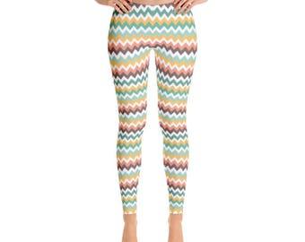 Crazy Chevron Leggings - Premium Womens Leggings - Fancee Pants Co.