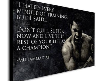 Muhammad Ali Don't Quit Quot Canvas Wall Art Print - Various Sizes