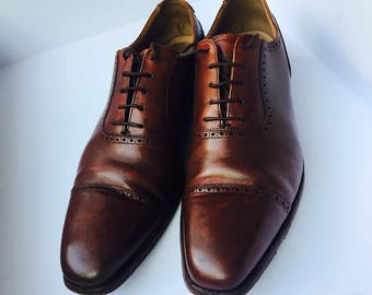 Used CROCKETT & JONES Leather Handmade Shoes. Size: 7.1/2