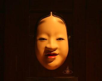Japanese Noh Mask, KOOMOTE, REAL Wood, Full-Size