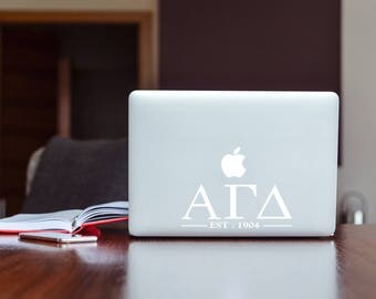 Alpha Gamma Delta Sorority Macbook Sticker