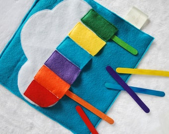 Color sticks / learning game, Inspiration Montessori and Steiner motor coordination