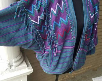 Native American style 1970s braided jacket.