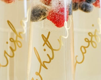 Bridal Champagne Flutes - Bridesmaid Gift - Bachelorette Party Gift - Bridesmaid Champagne Glass- Champagne Glass - Wedding Favor