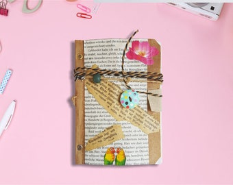 Notebook hand made from Recycleten material, IDEAL for individualists and nature lovers