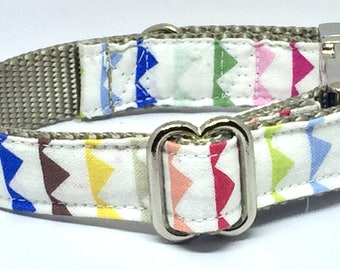 Multicolor, Adjustable, Geometric Pattern, High Quality, Metal Buckles, Unique, Cool, Cute, Fabric, Masculine, Boy, Pet Accessory