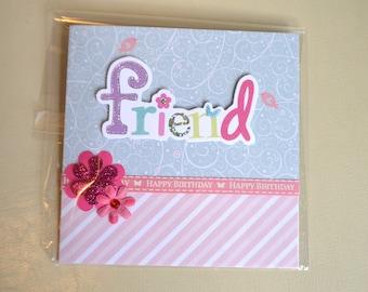 Handmade 'Friend' Greeting Card