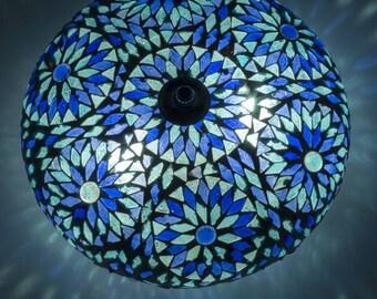 Mosaic ceilinglamp Oriental lamp Bohemian lamp Oosterse plafondlamp Mozaiek lamp
