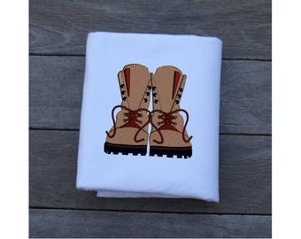 Boots Machine Embroidery Designs - 6 Sizes for the 4x4 hoop