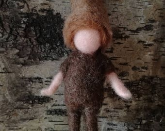 Moon children, waldorf doll, doll of wool for children, art and decoration