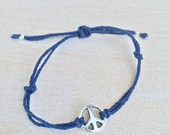 Blue hemp peace sign